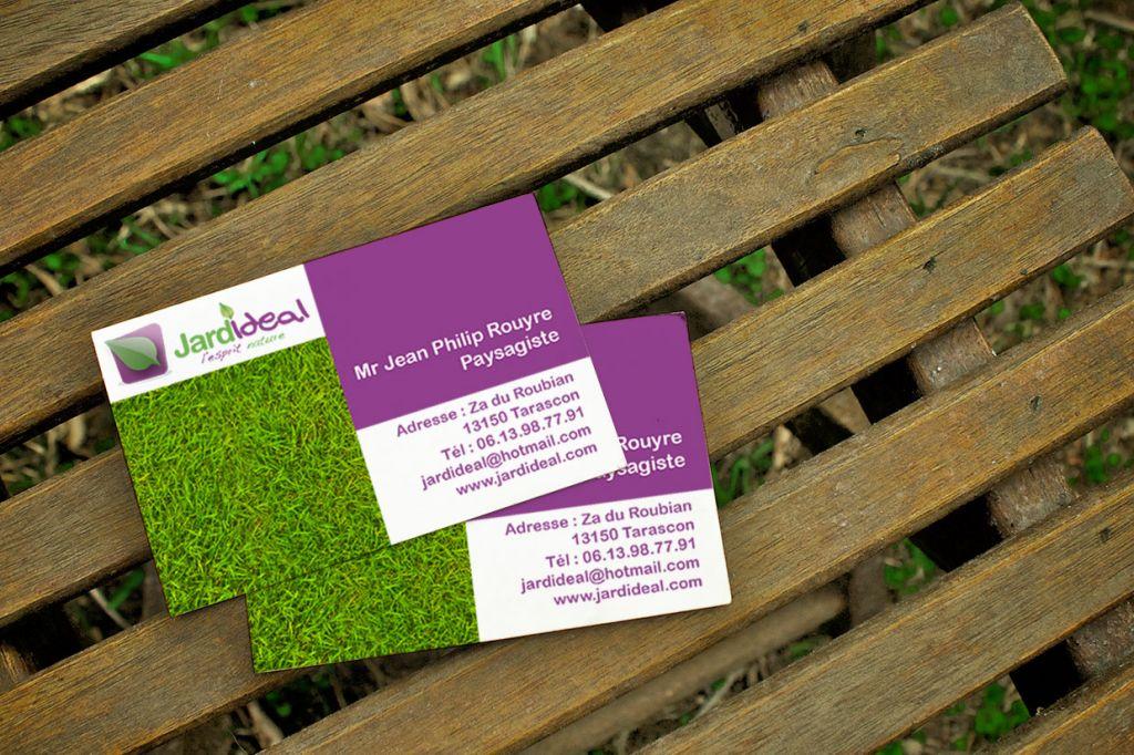 cartes de visite jardideal