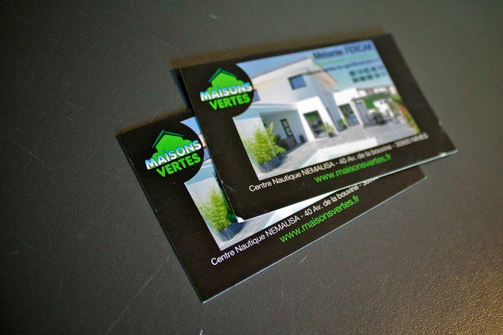 cartes de visite maisons vertes
