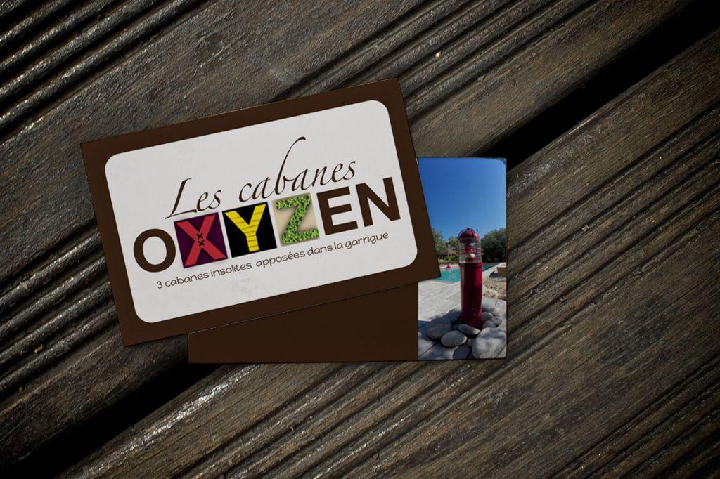 Cabanes oxyzen carte de visite